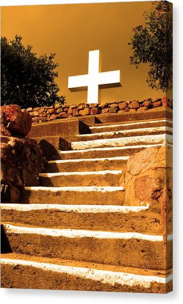 Golden Stairway Canvas Print