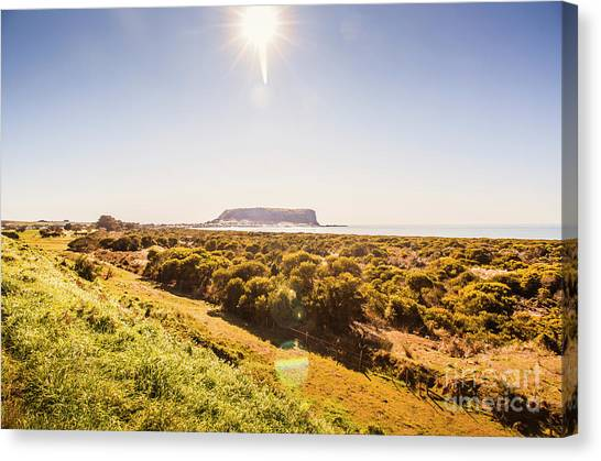 Volcanoes Canvas Print - Golden Stanley Landscape by Jorgo Photography - Wall Art Gallery