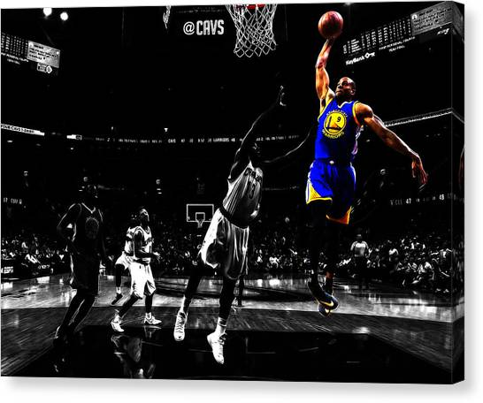 Denver Nuggets Canvas Print - Golden State Warriors Andre Iguodala  by Brian Reaves