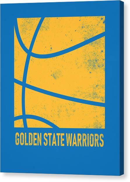 Golden State Warriors Canvas Print - Golden State Warriors City Poster Art 2 by Joe Hamilton
