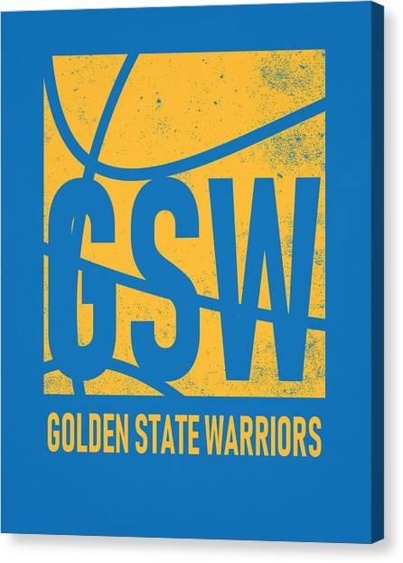 Golden State Warriors Canvas Print - Golden State Warriors City Poster Art by Joe Hamilton