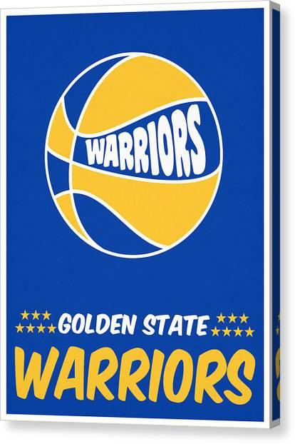 Golden State Warriors Canvas Print - Golden State Warriors Vintage Basketball Art by Joe Hamilton