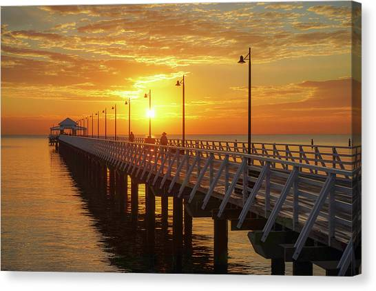 Golden Sunrise Down By The Bay Canvas Print