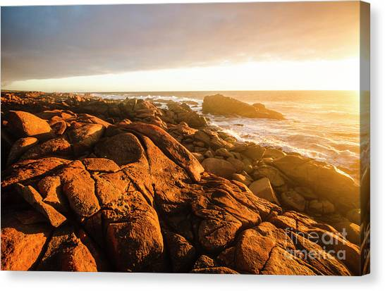 Sunset Horizon Canvas Print - Golden Sunset Coast by Jorgo Photography - Wall Art Gallery