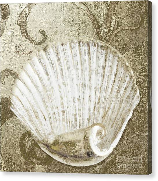 Clams Canvas Print - Golden Tides by Mindy Sommers