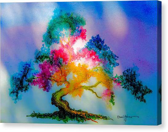 Da183 Golden Tree Daniel Adams Canvas Print