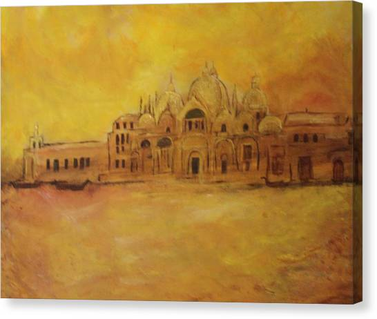 Golden Venice Canvas Print by Michela Akers