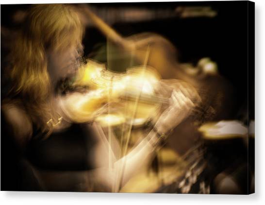 Golden Violin -  Canvas Print