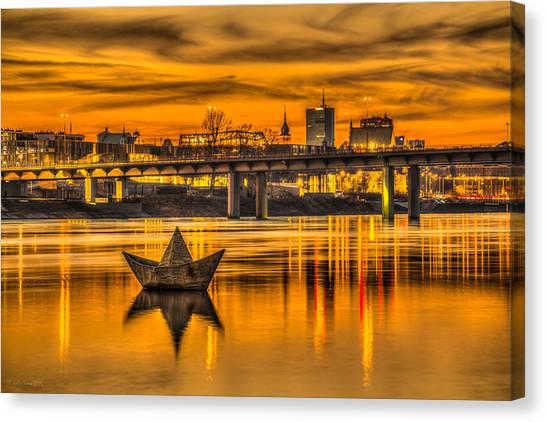 Golden Vistula Canvas Print