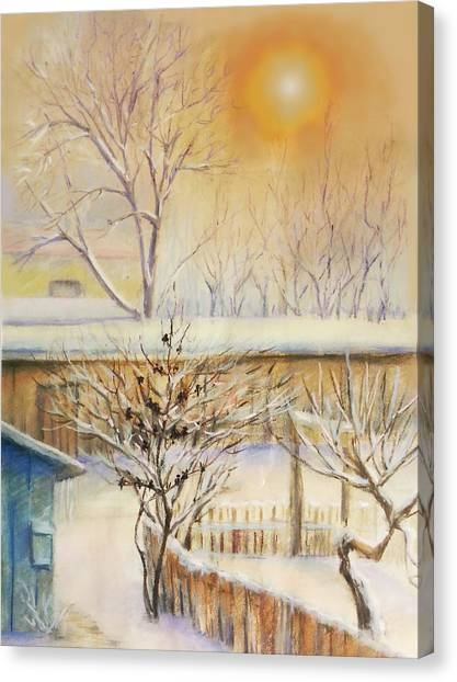 Golden  Winter Morning  Canvas Print
