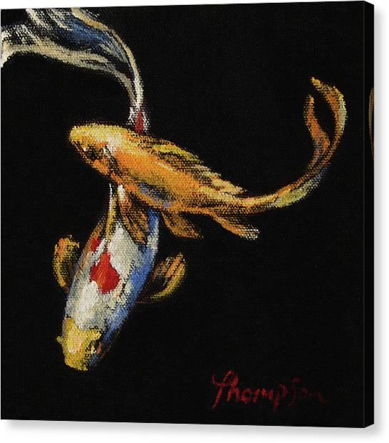Goldfish Canvas Print - Goldfish Crossing I by Tracie Thompson