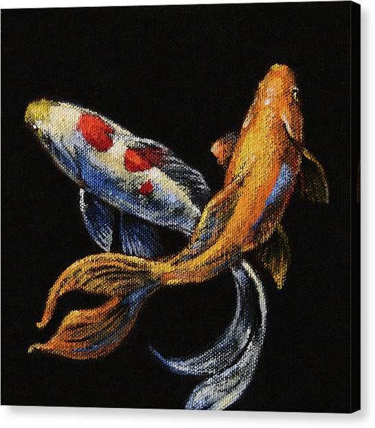 Goldfish Canvas Print - Goldfish Crossing II by Tracie Thompson
