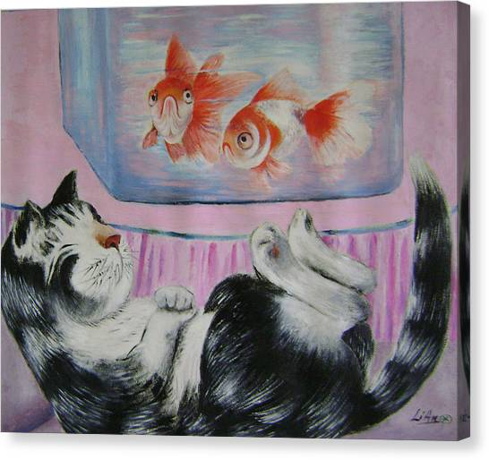 Goldfish Dream Canvas Print by Lian Zhen
