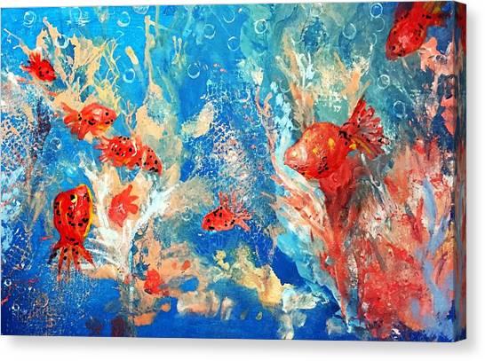 Goldfish Party Canvas Print