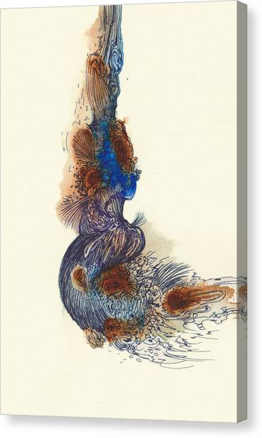 Goldfish - #ss14dw026 Canvas Print by Satomi Sugimoto