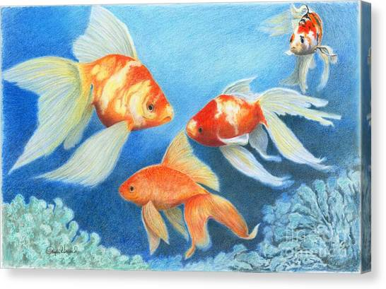 Goldfish Tank Canvas Print