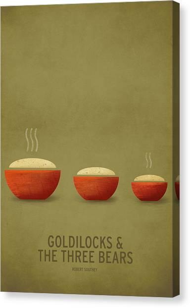 Digital Canvas Print - Goldilocks And The Three Bears by Christian Jackson