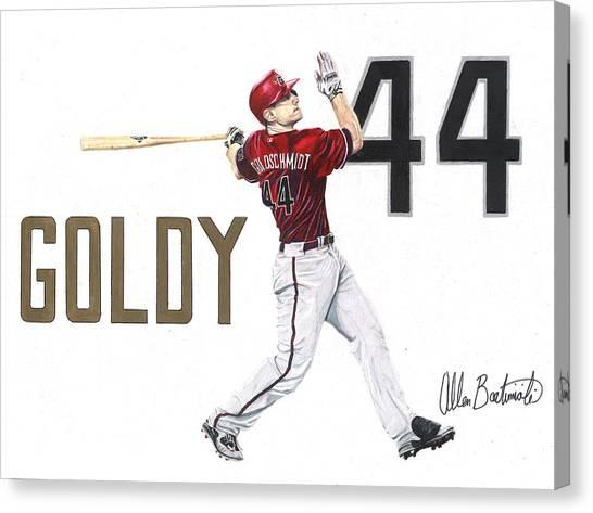 Arizona Diamondbacks Canvas Print - Goldy by Allen Bartimioli