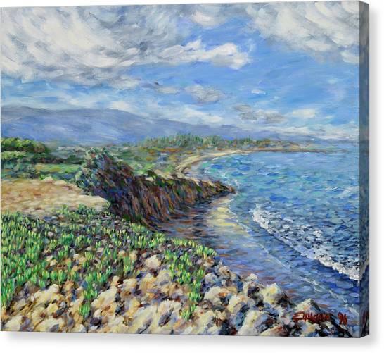 Ucsb Canvas Print - Goleta Beach by Emiliano Campobello