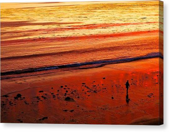 Ucsb Canvas Print - Goleta Beach Sunset by Jiahang Zhou