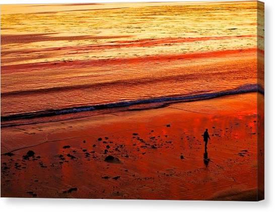 Ucsb Canvas Print - Goleta Beach Sunset by Jiahang Zhou