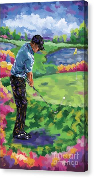 Jack Nicklaus Canvas Print - Golf 3 by Tim Gilliland