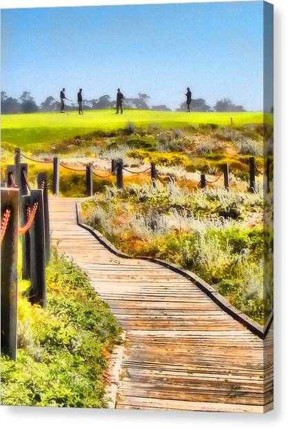 Golf At Pebble Beach Canvas Print