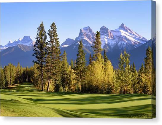 Silvertip Golf Course Canvas Print