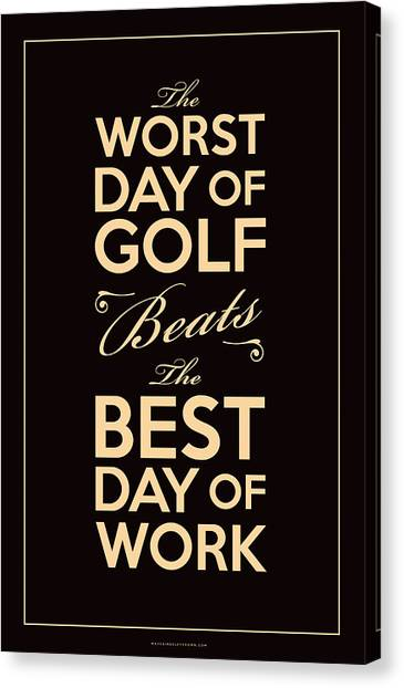 Dad Canvas Print - Golf Day Quote by Mark Kingsley Brown