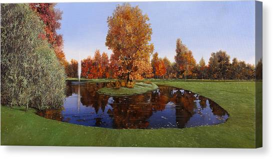 Tiger Woods Canvas Print - Golf  Cherasco by Guido Borelli