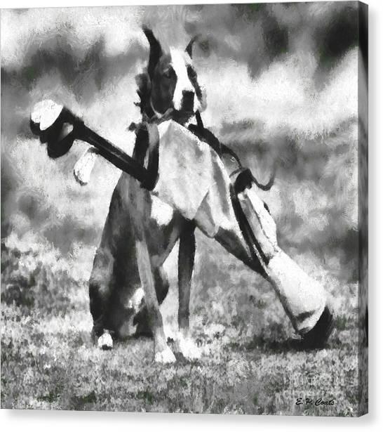 Golf Dog Canvas Print