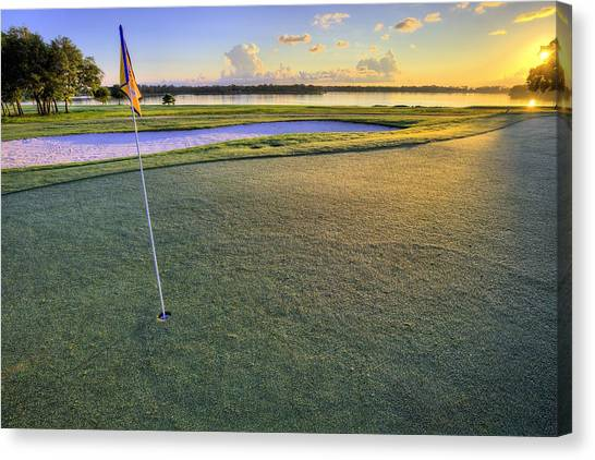 Hole In One Canvas Print - Golf Florida by JC Findley