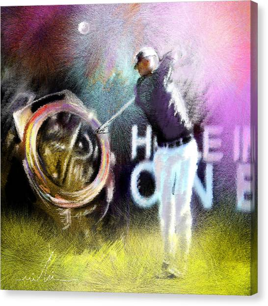 Hole In One Canvas Print - Golf In Crans Sur Sierre Switzerland 03 by Miki De Goodaboom