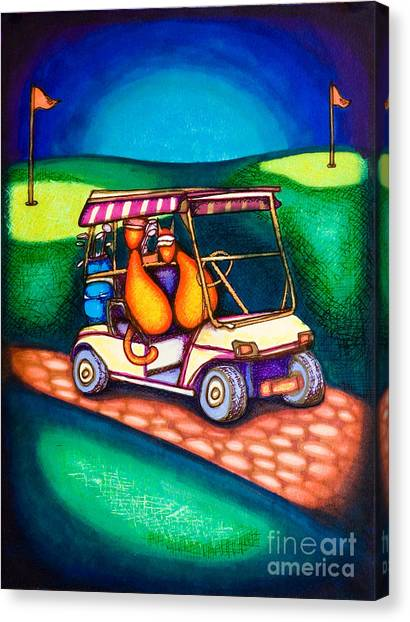 Golf Kats Canvas Print