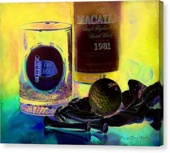 Scotch Canvas Print - Golf Nap II by Cheryl Wooten