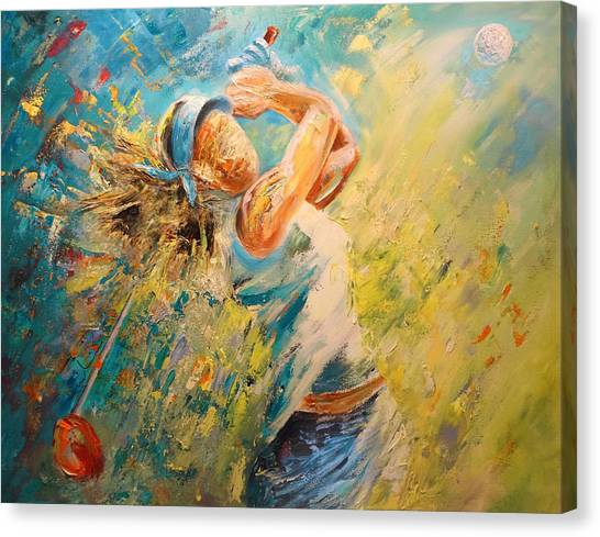Golf Passion Canvas Print
