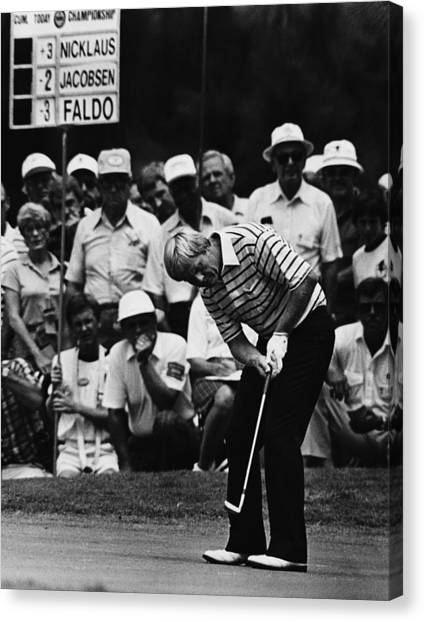 Pro golf canvas print golf pro jack nicklaus august 1984 by everett