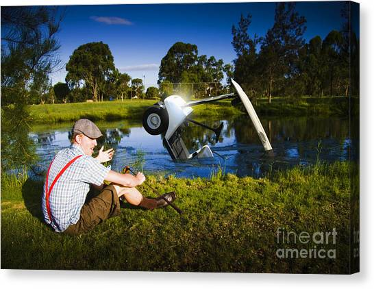 Canvas Print featuring the photograph Golf Problem by Jorgo Photography - Wall Art Gallery