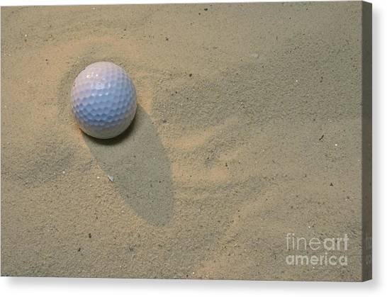 Hole In One Canvas Print - Golf-the Sand Trap by Paul Ward