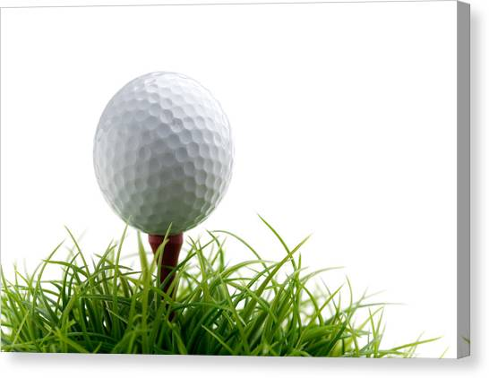 Golf Course Canvas Print - Golfball by Kati Finell
