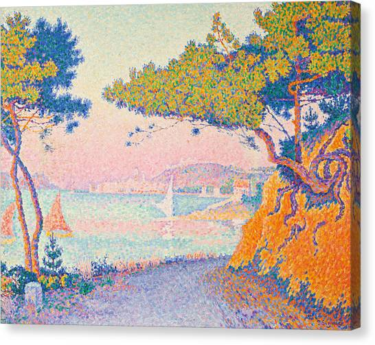 Pointillism Canvas Print - Golfe Juan by Paul Signac