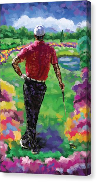 Jack Nicklaus Canvas Print - Golfer 1 by Tim Gilliland