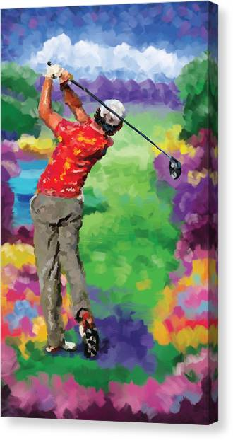 Jack Nicklaus Canvas Print - Golfer 2 by Tim Gilliland