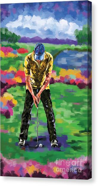 Jack Nicklaus Canvas Print - Golfer 4 by Tim Gilliland
