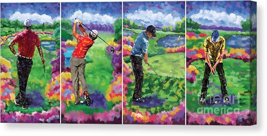 Jack Nicklaus Canvas Print - Golfer All 4 by Tim Gilliland