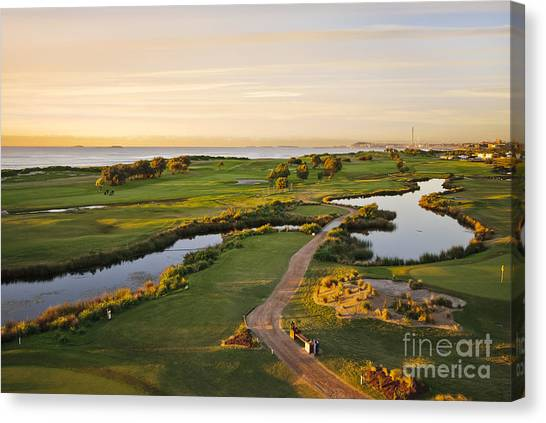 Golfing At The Gong II Canvas Print