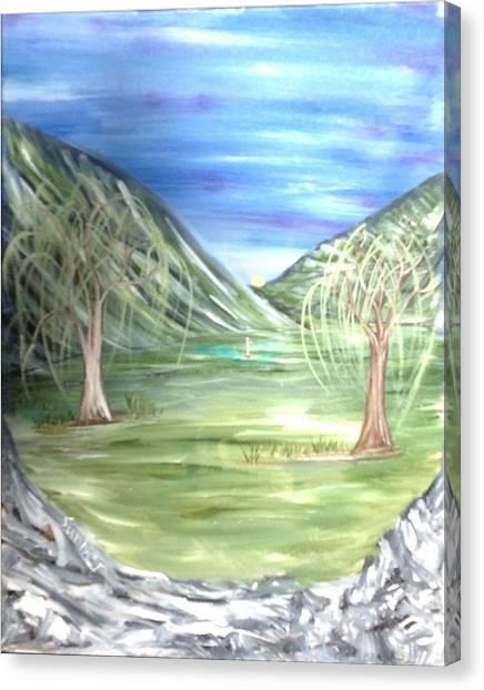 Golfing In Glacier Canvas Print