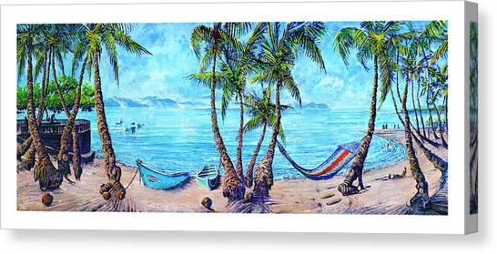 Golfo Dulce Beach Scene Canvas Print