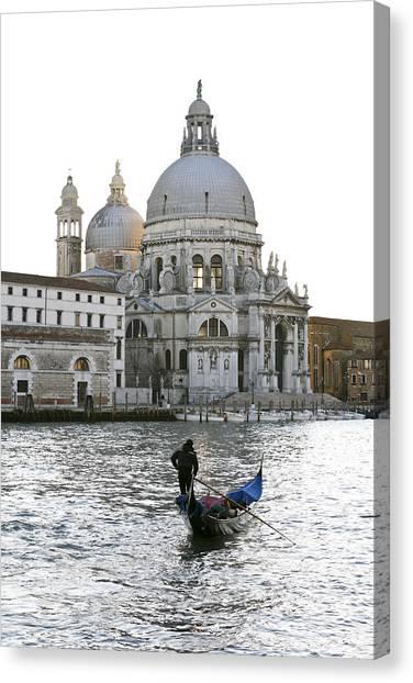 Gondola Alla Salute Canvas Print
