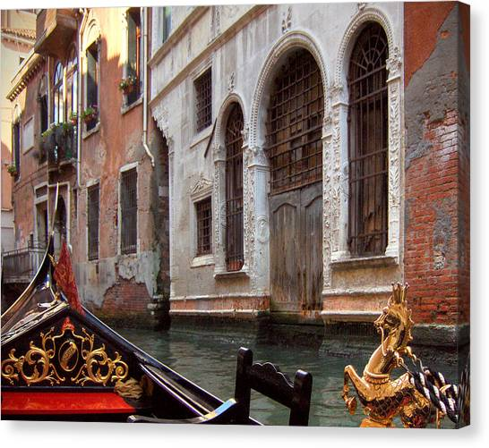 Gondola Canvas Print by Julie Geiss